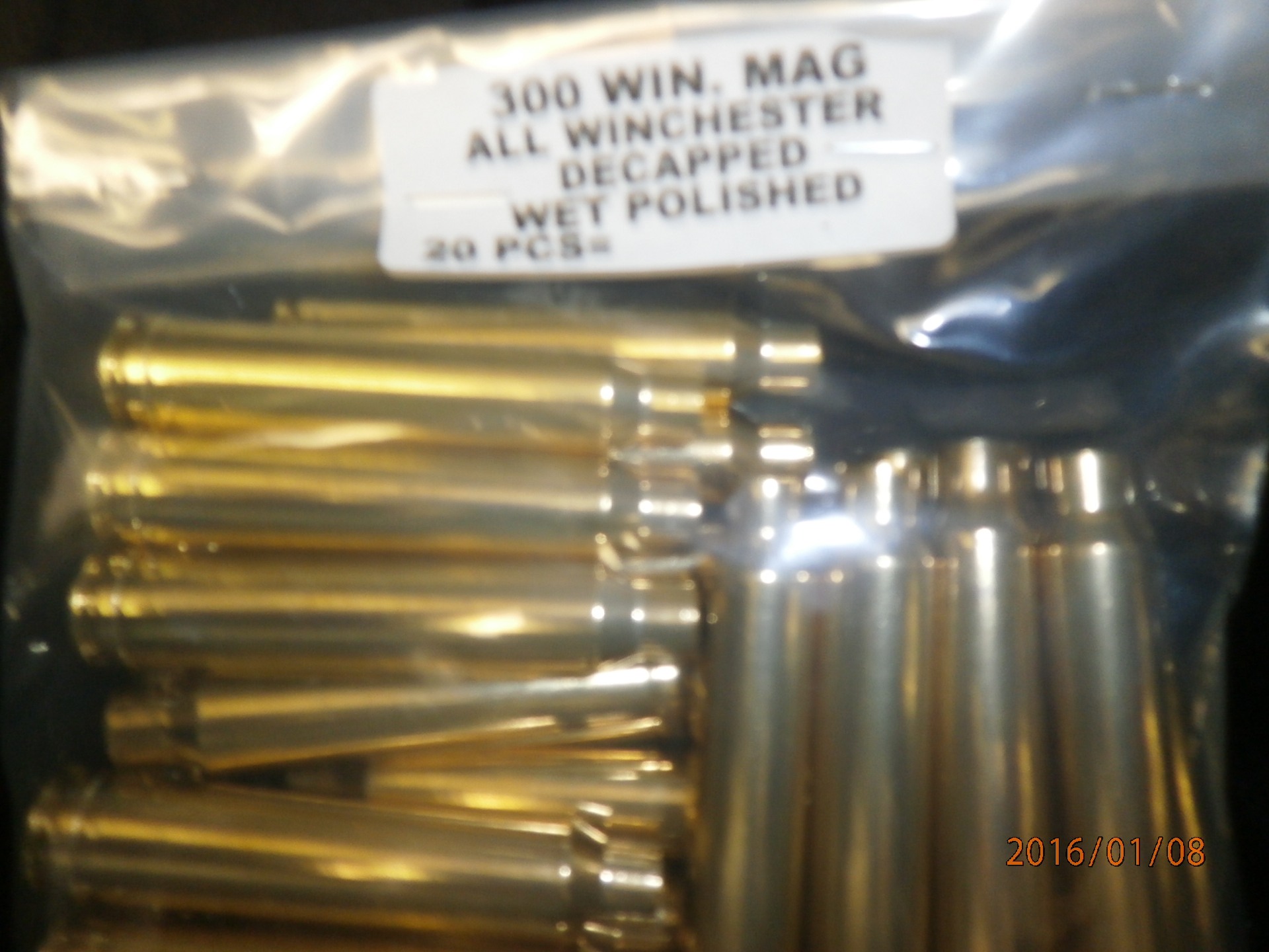 WET POLISHED 300 WIN MAG BRASS
